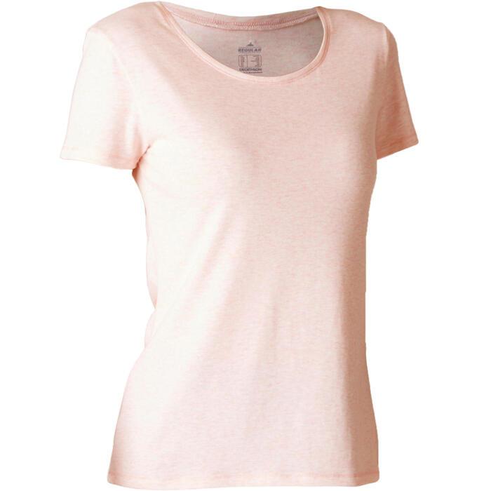T-Shirt 500 régular manches courtes Gym & Pilates femme chiné - 1508065