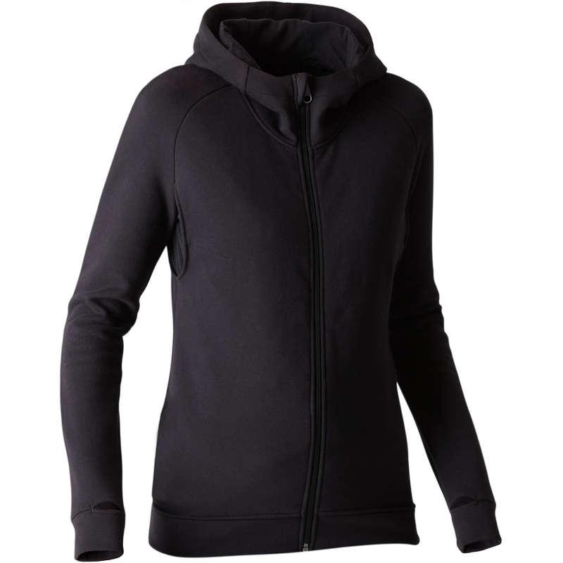 WOMAN PANT JACKET SWEAT - 540 Gym Hoody - Black DOMYOS