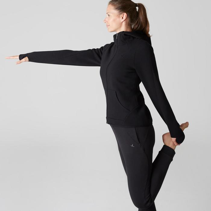 女款皮拉提斯與溫和健身Spacer連帽外套- 黑色