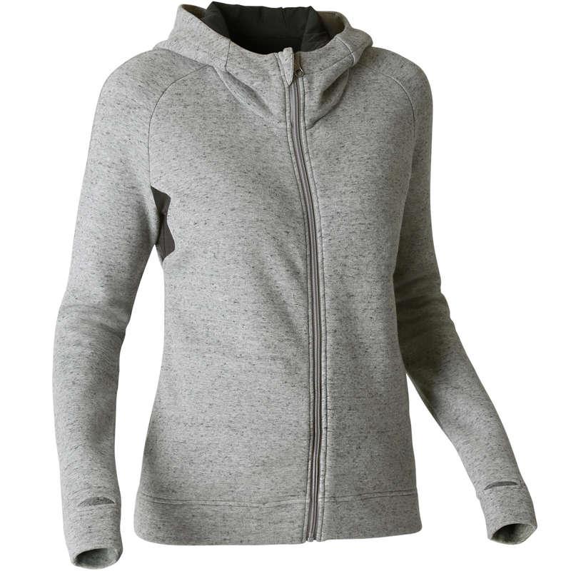 WOMAN PANT JACKET SWEAT - 540 Gym Hoody - Grey DOMYOS