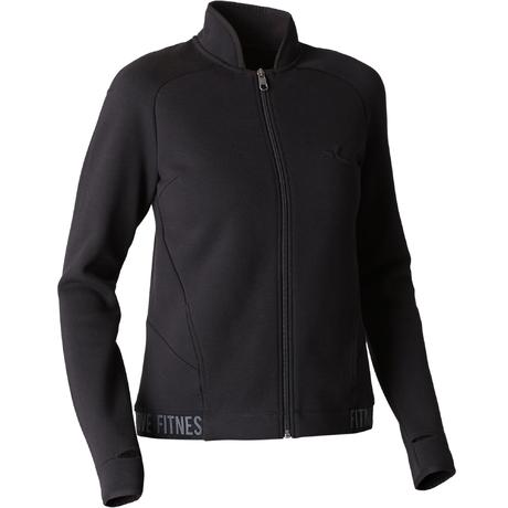 Veste 900 Gym Stretching femme noir  caf4b3c61b8