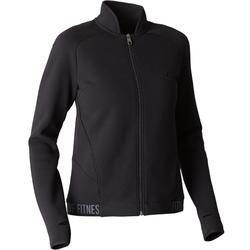 Trainingsjacke 900 Gym Stretching Damen schwarz