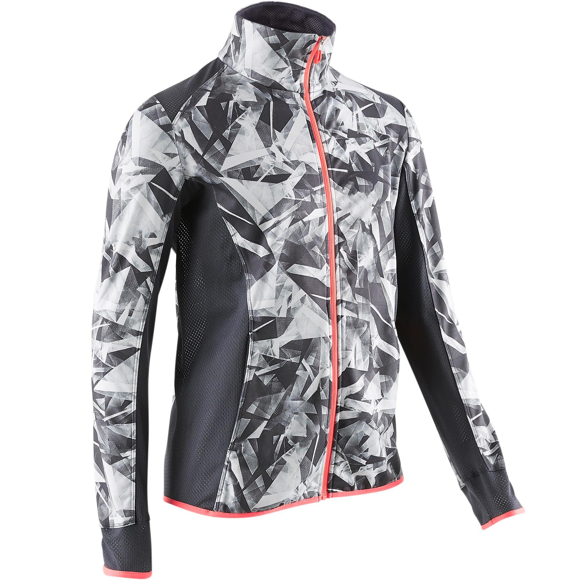 Trainingsjacke S900 Gym Kinder weiß mit Print