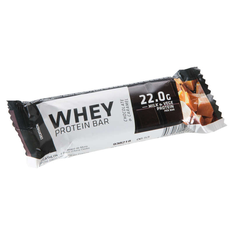 PROTEINS AND SUPPLEMENTS Supplements - Whey Protein Bar Choco-Caramel DOMYOS - Energy Supplements