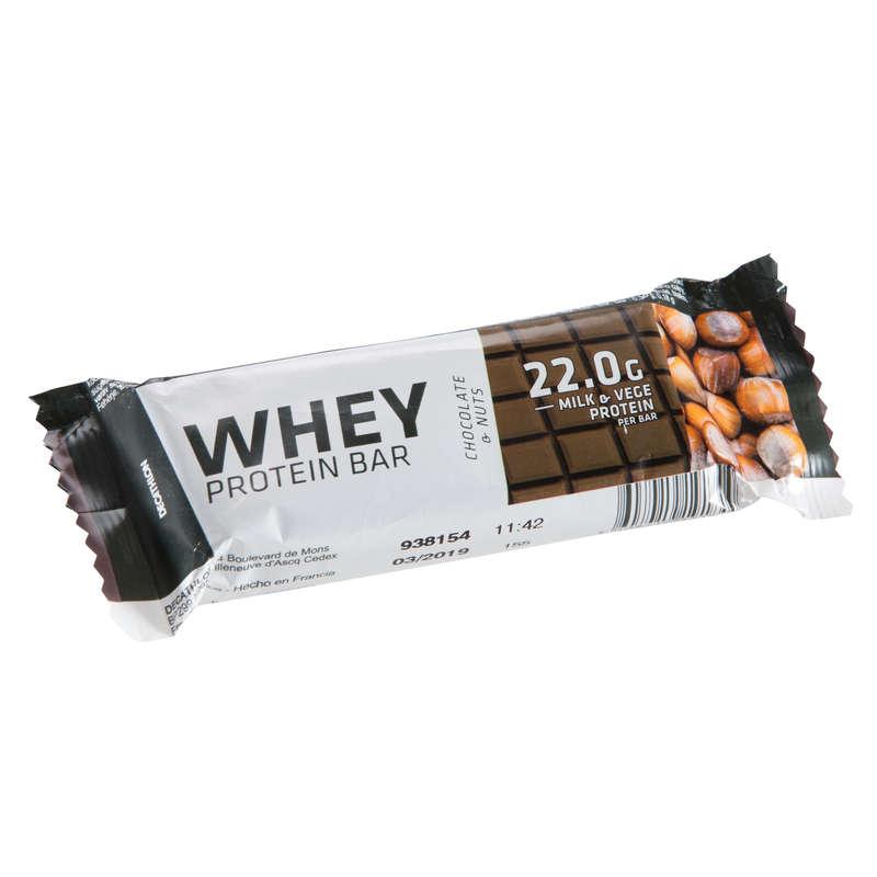 PROTEIN & KOSTTILLSKOTT Kost och Hälsa - WHEY PROTEIN BAR choco-nuts DOMYOS - Protein, Kosttillskott