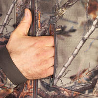 Hunting Silent Breathable Jacket 500 - Woodland Camouflage