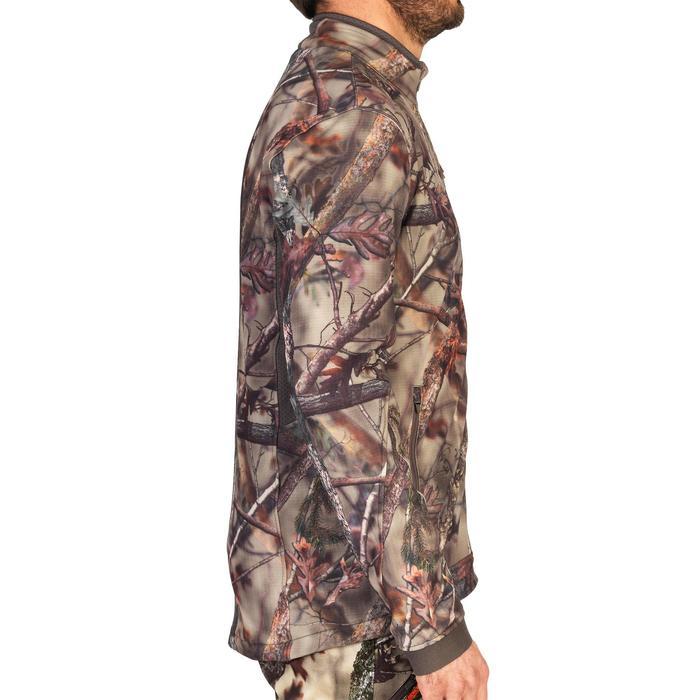 500 Silent Breathable Hunting Jacket - Woodland Camo