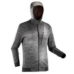 MH900男款登山健行刷毛外套-麻花灰