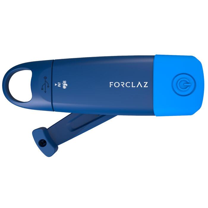 Autonomous, rechargeable torch - Dynamo 500 USB blue - 75 lumens