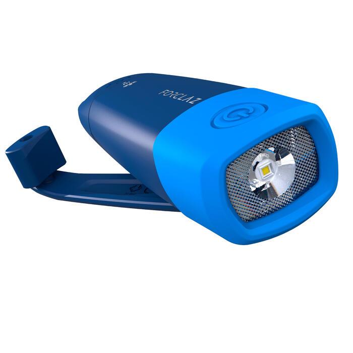Lampe torche autonome rechargeable - DYNAMO 500 USB bleue - 75 lumens