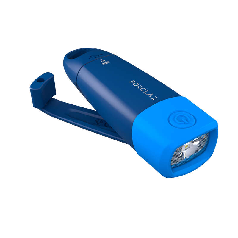 Lămpi frontale - Lanternă cu dinam 500 Albastru FORCLAZ