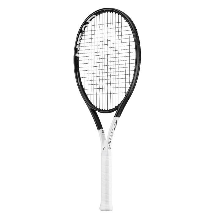 Tennisschläger Speed S Erwachsene schwarz/weiß