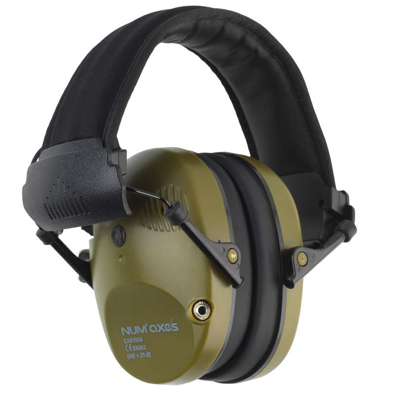 HEARING PROTECTION/GLASSES Shooting and Hunting - Num'axes Acoustic Electronic Ear Defenders  NUM'AXES FRANCE - Clay Pigeon Shooting