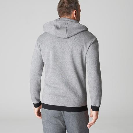 e49fefe18ec11f Felpa con cappuccio uomo gym pilates 560 grigio chiaro melange. Previous.  Next