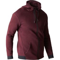 Veste 560 capuche Gym Stretching homme bordeaux