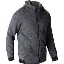 oscuro 560 Chaqueta Gimnasia hombre Stretching gris jaspeado capucha Y1x8qxwH
