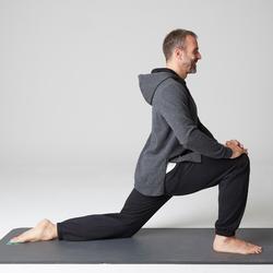 Sweat 900 capuche Gym Stretching homme gris foncé