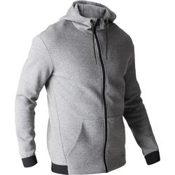560 Gym Stretching Hooded Jacket - Light Mottled Grey
