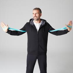 Kapuzenjacke 900 Pilates sanfte Gymnastik Herren schwarz