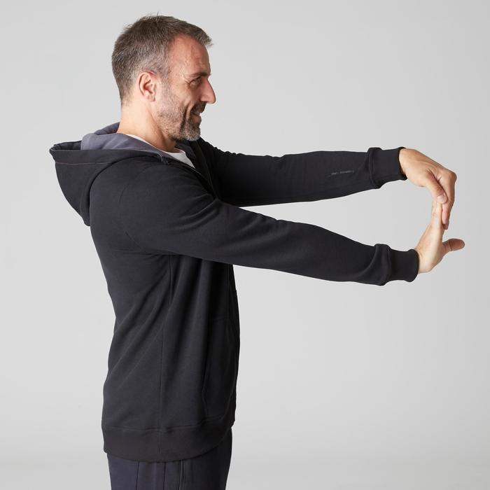 Chaqueta 900 capucha Gimnasia Stretching negro hombre
