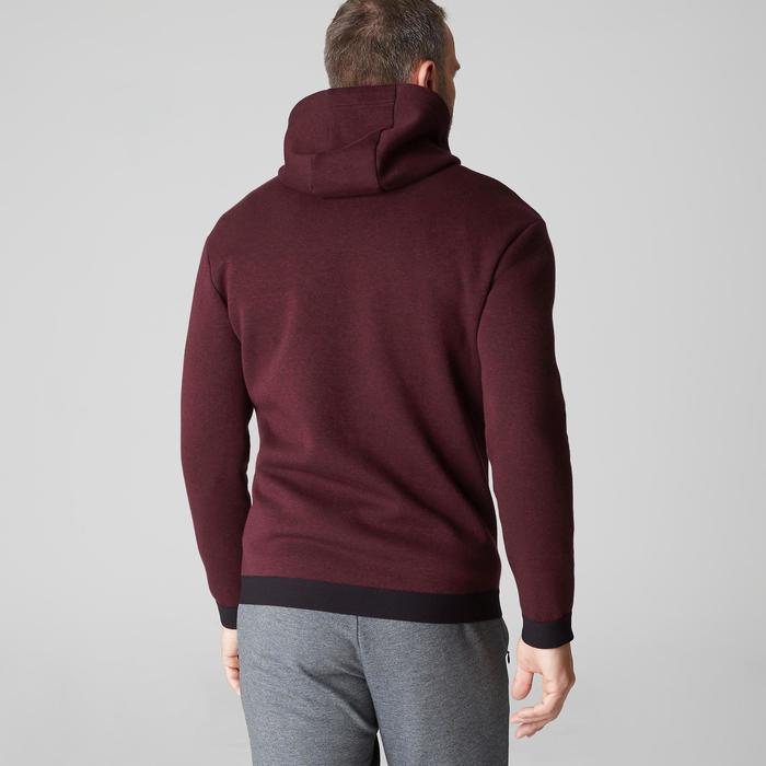 Veste 560 capuche Pilates Gym douce homme bordeaux