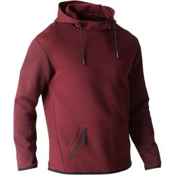 560 Gym Stretching Hooded Sweatshirt - Burgundy