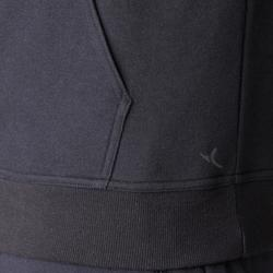 Chaqueta 900 con capucha Pilates y Gimnasia suave negro hombre