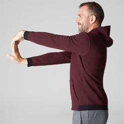 Veste 560 capuche Pilates Gym douce homme bordeaux