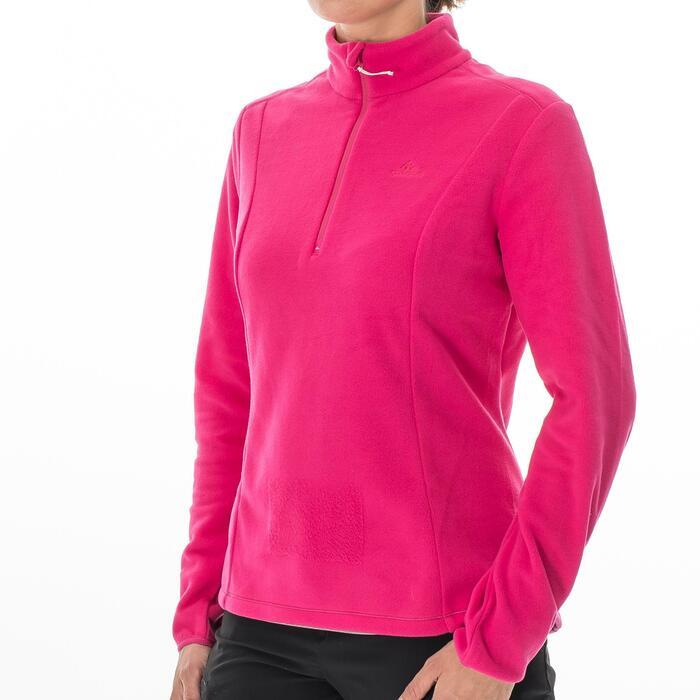 Forro polar de senderismo montaña mujer MH100 Rosa