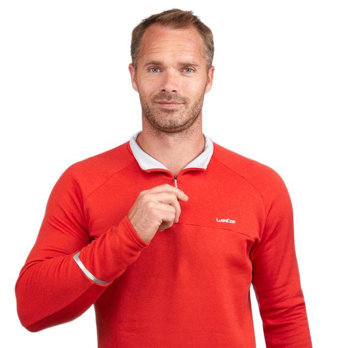 Herenmidlayer voor skiën 500 rood