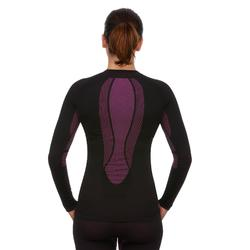 Camiseta térmica Esquí y Snow interior Wed'ze iSoft Mujer negro