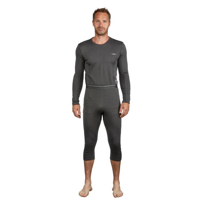 Pantalon térmico interior Nieve y Esquí Wed'ze 500 hombre gris
