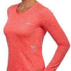 Ski thermoshirt voor dames 500 koraalrood