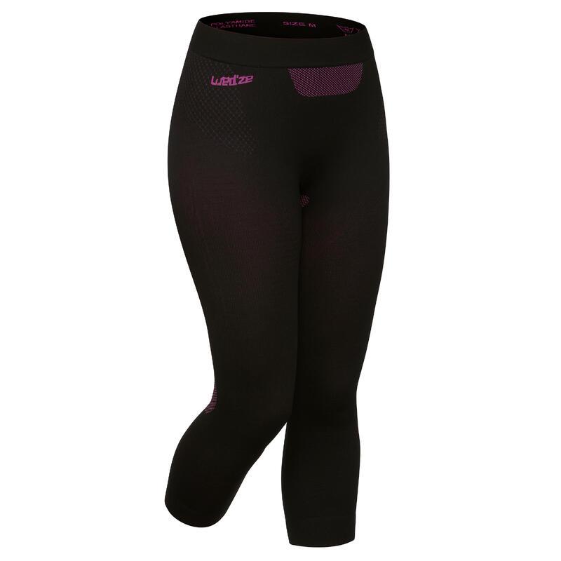 Women's Ski Base Layer Bottoms I-Soft - Black / Pink
