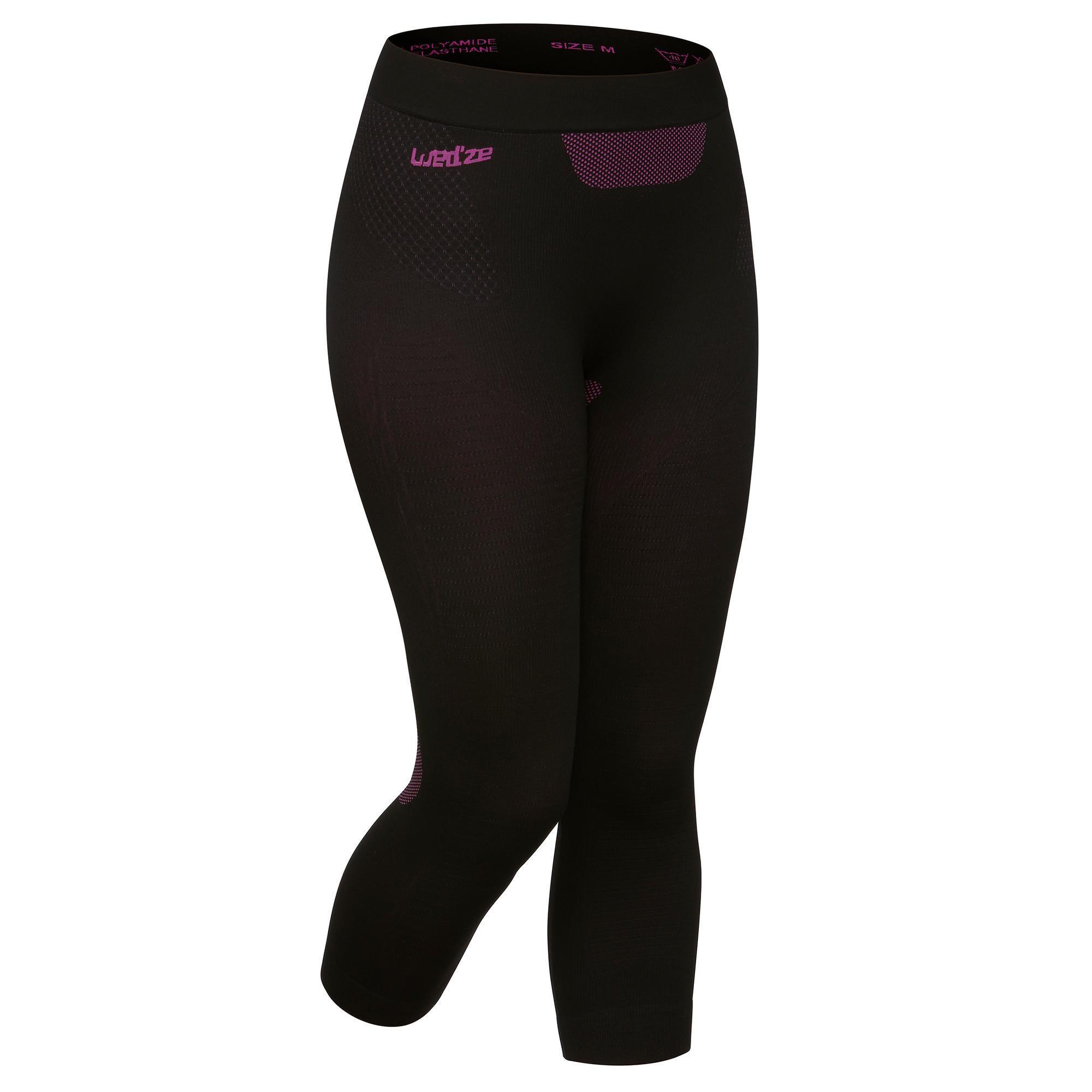 Skiunterhose Funktionshose I-Soft Damen schwarz | Sportbekleidung > Funktionswäsche > Thermounterwäsche | Schwarz - Rosa | Polyamid | Wed´ze