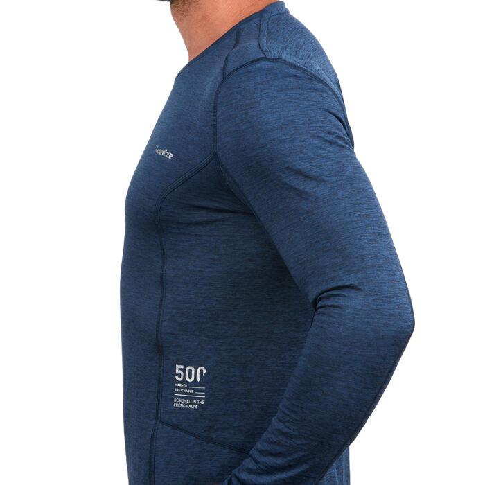 Thermoshirt ski voor heren 500 blauw