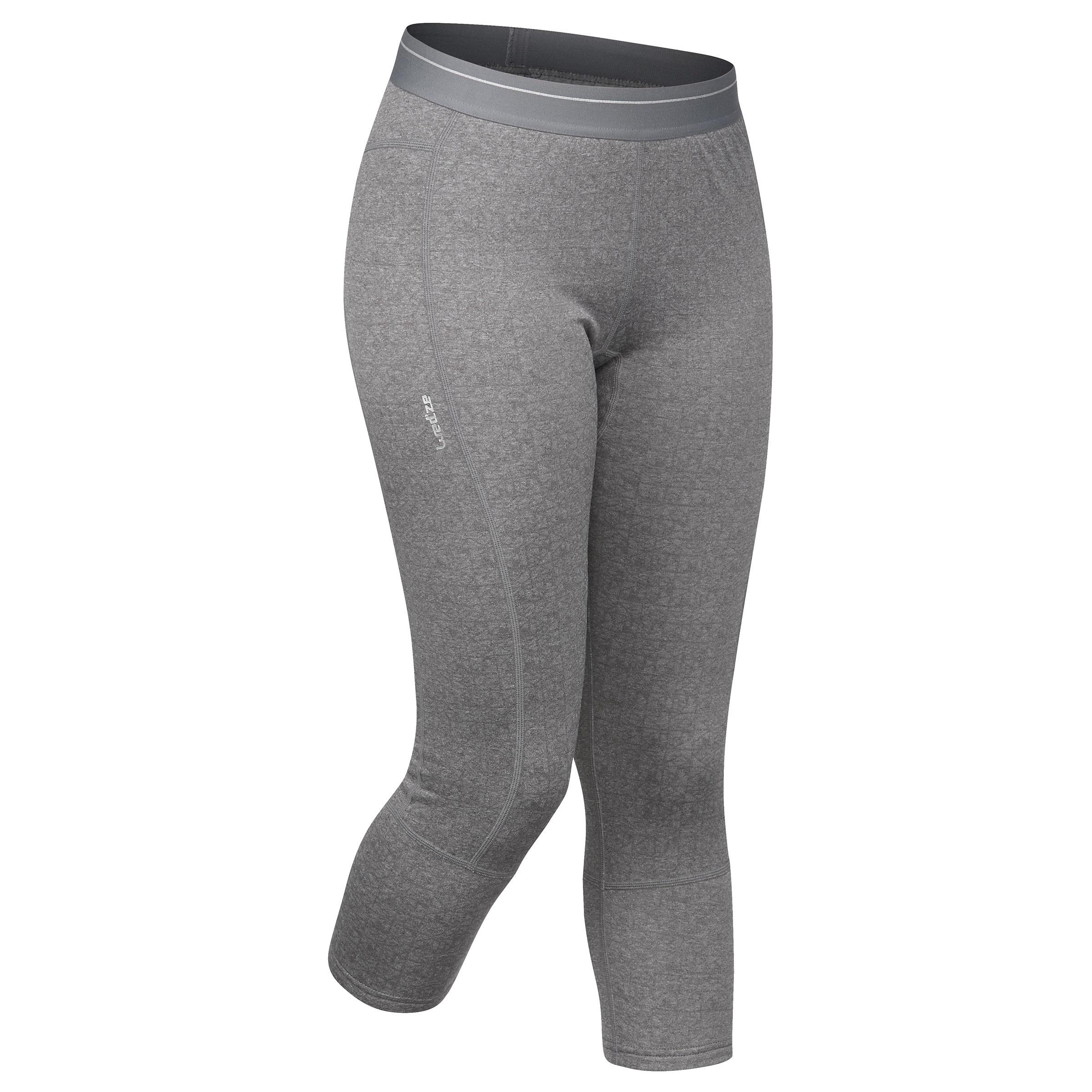 Skiunterhose Funktionshose 500 Damen grau | Sportbekleidung > Funktionswäsche > Thermounterwäsche | Grau | Polyester | Wed´ze