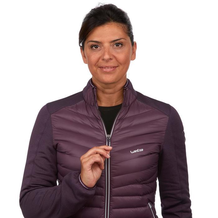 Chaqueta térmica plumón de esquí mujer 900 ciruela