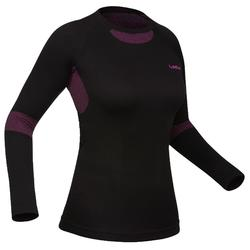 Damesthermoshirt voor skiën 580 i-Soft zwart/paars
