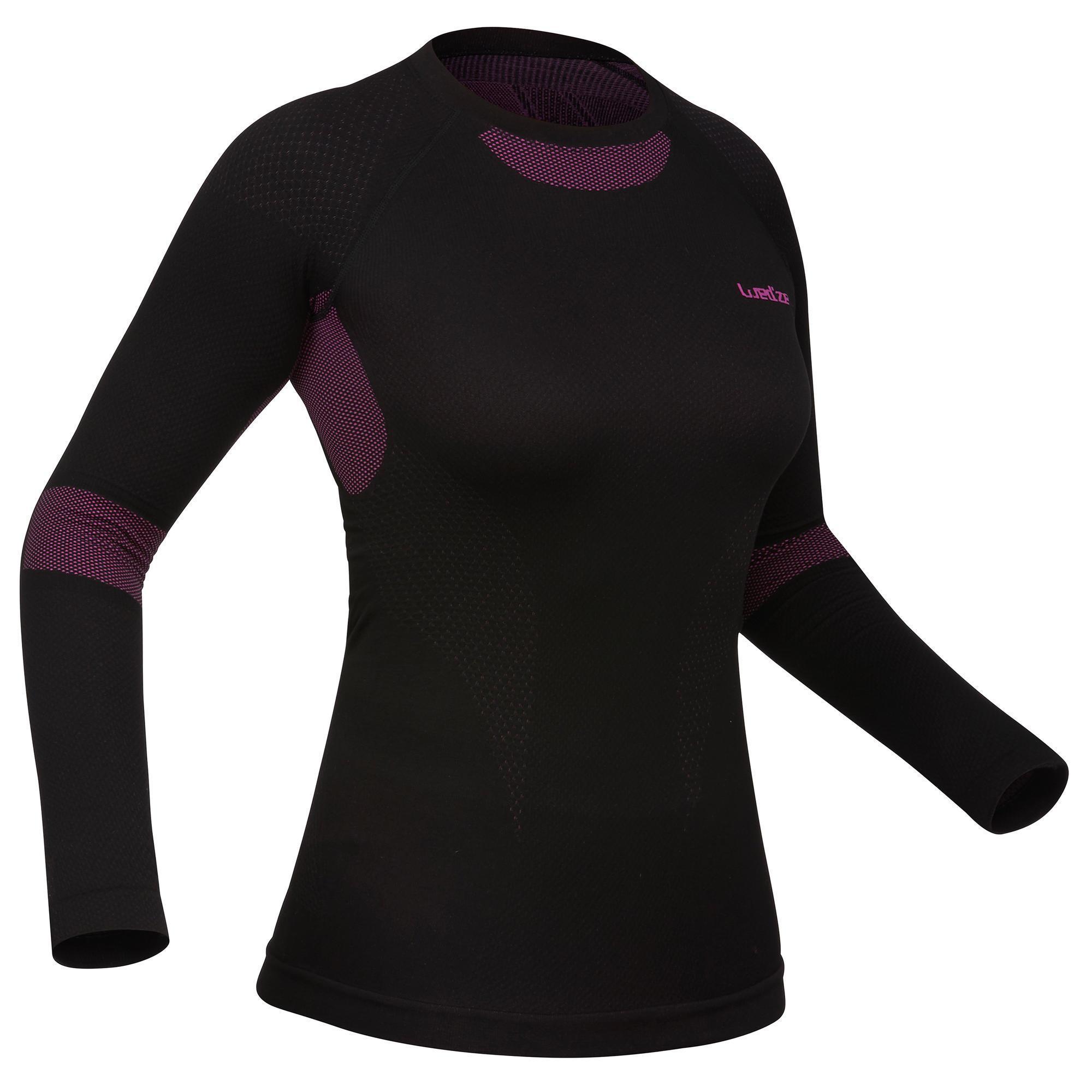 Skiunterhemd Funktionsshirt Damen i-Soft schwarz | Sportbekleidung > Funktionswäsche > Thermounterwäsche | Wed'ze