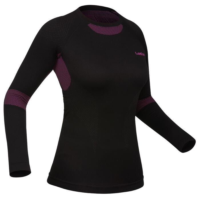 Thermoshirt voor skiën dames i-Soft zwart