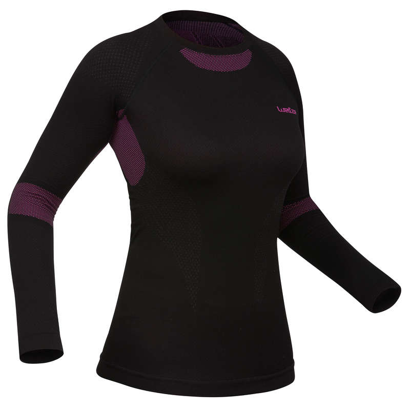 WOMEN SKI BASELAYER & PULL Skiing - W BASE LAYER TOP i-Soft - BLK WEDZE - Ski Wear