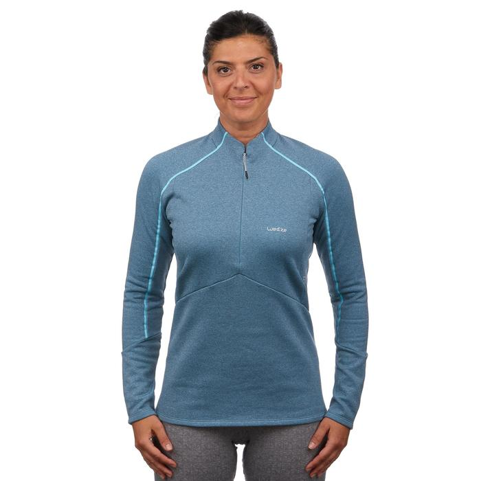 Sous-vêtement haut de ski femme MD 500 bleu