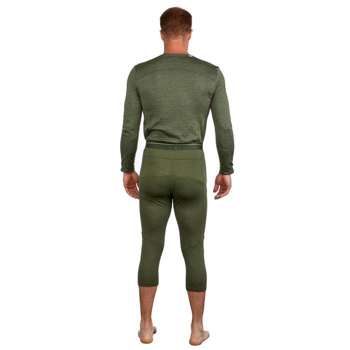 Skithermobroek voor heren 500 groen