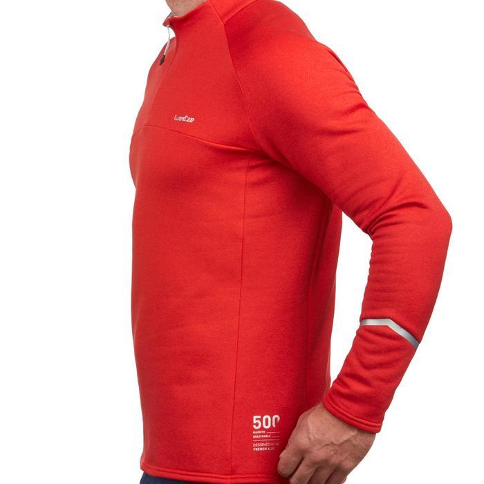 Heren thermoshirt voor skiën MD 500 rood