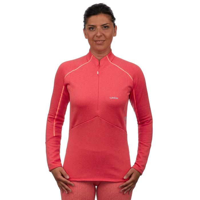 Camiseta de esquí mujer MD 500 rosa