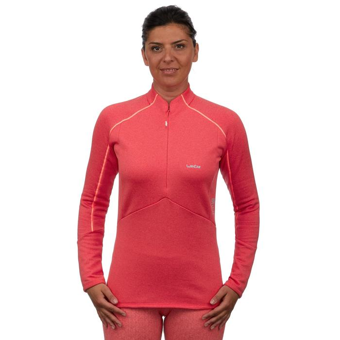 Damesmidlayer voor skiën 500 roze