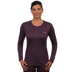 Skiunterhemd Funktionsshirt 500 Damen violett
