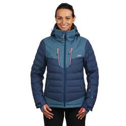 Abrigo Chaqueta Plumón Nieve y Esquí Wed'ze 900 Warm Mujer Azul