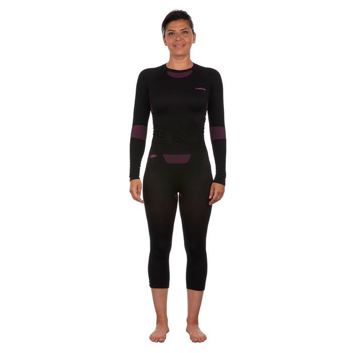 Pantalón interior esquí mujer 950 Negro Azul